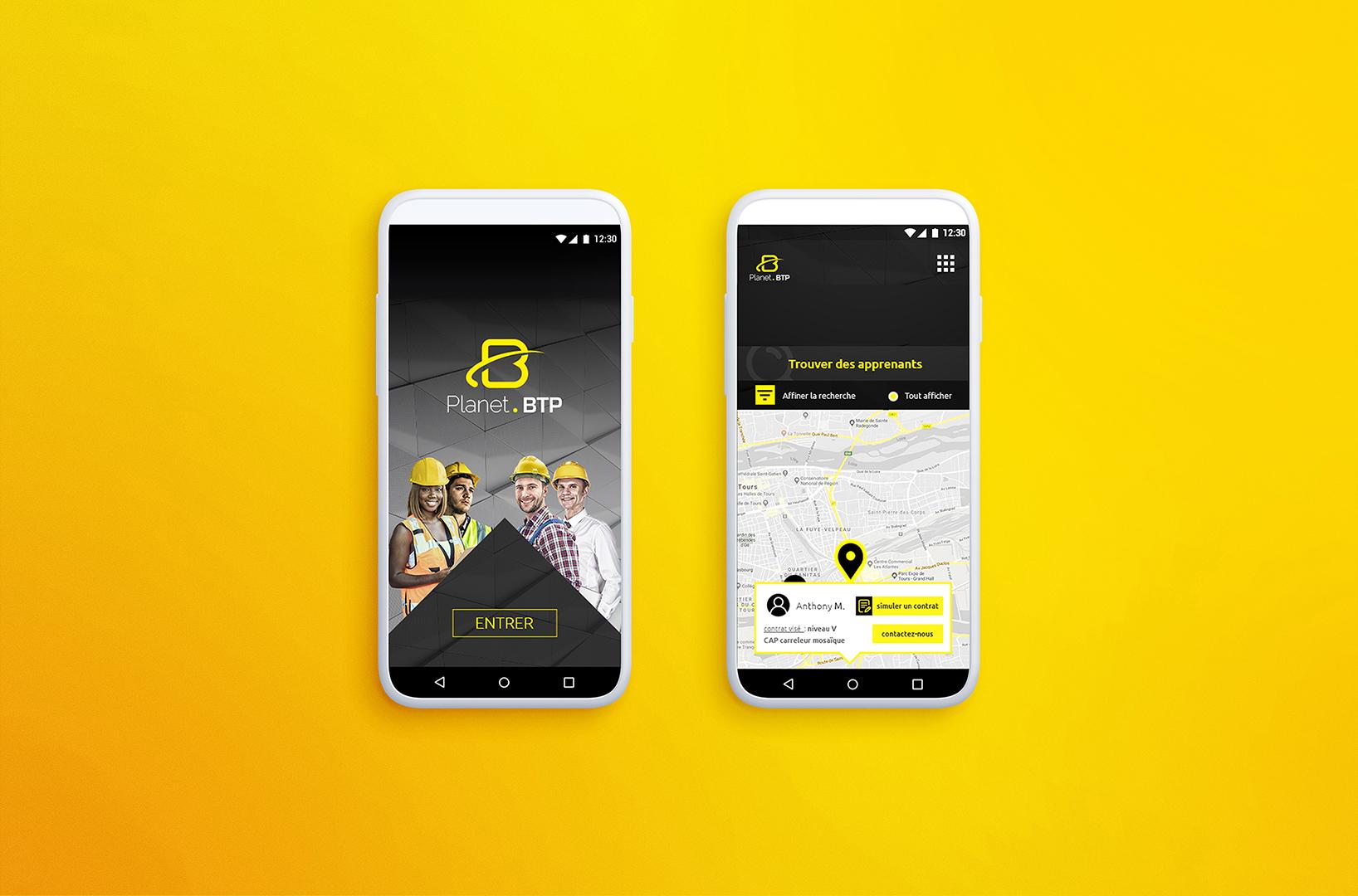 application mobile BTP CFA