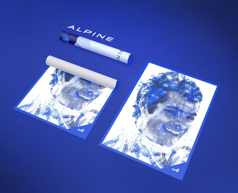 Création affiche alpine renault
